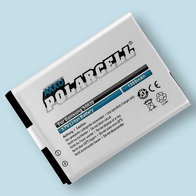 PolarCell Akku für Samsung Galaxy Ace GT-S5830 Gio GT-S5660 EB494358VU Batterie