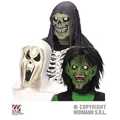 Latexmaske Kinder Horror Geist Totenkopf Hexe Kapuze Maske Halloween (Hexe Maskerade Maske)