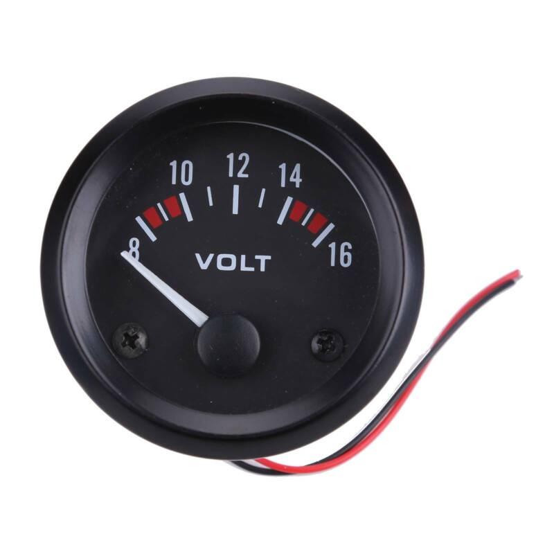 Zusatz Instrumente Öldruck Voltmeter Zusatzanzeige Wassertemperatur 52mm DC 12V