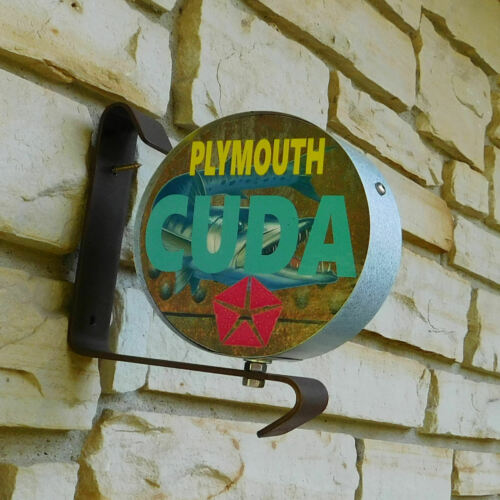 Barracuda Plymouth CUDA Mopar logo emblem miniature wall post service Sign USA