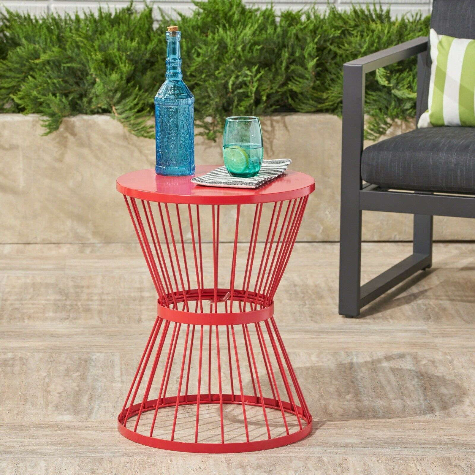 Fern Outdoor 16 Inch Iron Side Table Home & Garden