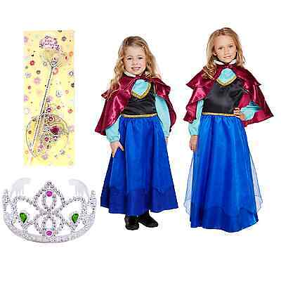 ress Up Costume Frozen Anna Fairytale Story Girls Outfit Day (Frozen Dress Up Outfit)