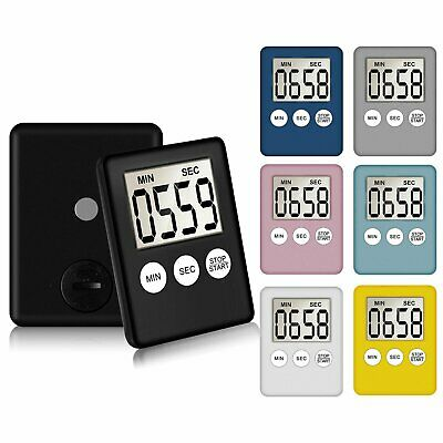 LCD Digital Large Kitchen Cooking Timer Count-Down Up Clock Alarm Magnetic Home & Garden