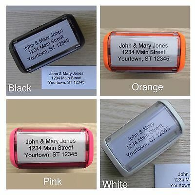 (Personalized Custom 4 LINE RETURN ADDRESS Self Inking Rubber Stamp)