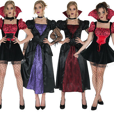 Scary Vampire Halloween Costumes (Womens Vampiress Costumes Vampire Scary Vamp Sexy Halloween Fancy Dress)