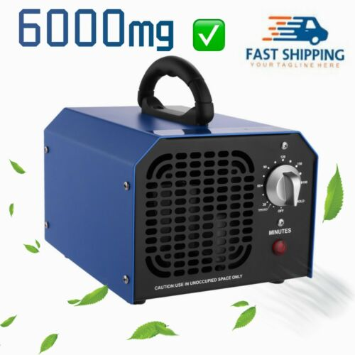 6000mg/h Commercial Ozone Generator Industrial Air Purifier Mold Mildew Smoke