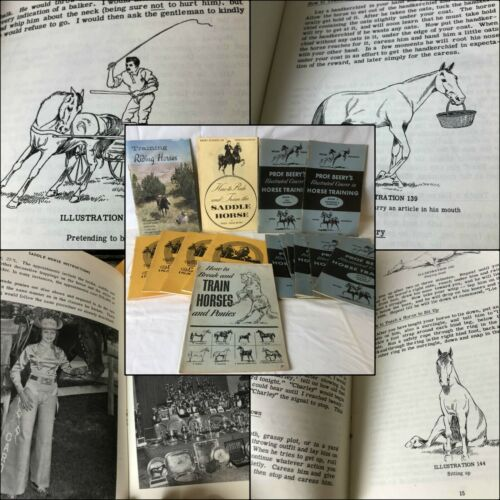16 Beery School HORSEMANSHIP BOOKS Saddle Horse Train & Break Riding Horse Colts