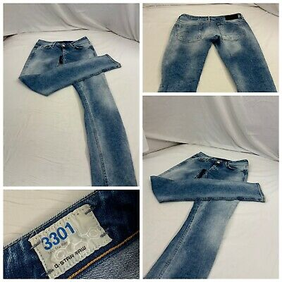 G Star Raw Jeans Sz 29 Blue Stone Wash Skinny Cotton Lycra Italy EUC YGI N0-81