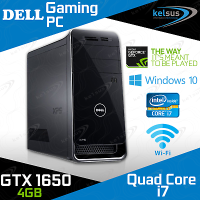 computer game - Dell XPS Gaming PC Quad Core i7 GTX 1650 8GB RAM HDD SSD Windows 10 Desktop