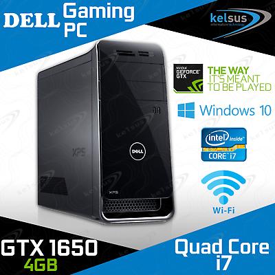 computer game - Dell XPS Gaming PC 6th Gen i7 GTX 1650 16GB RAM HDD SSD Windows 10 Desktop