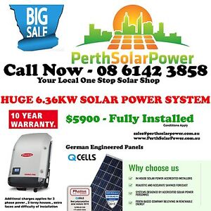 Huge 6.34kw Solar Power System Balcatta Stirling Area Preview