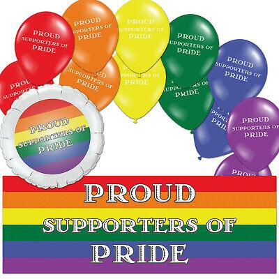 LGBTQ+ Gay Lesbian PRIDE Rainbow Parade Decorations Balloons Party Supplies](Gay Pride Decorations)