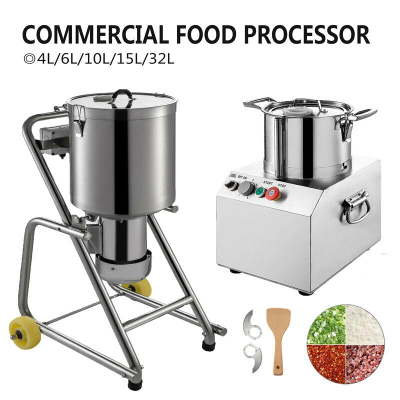 Commercial Food Processor Food Grinder Blender 4L~32L Elec Chopper Dicer Cutter