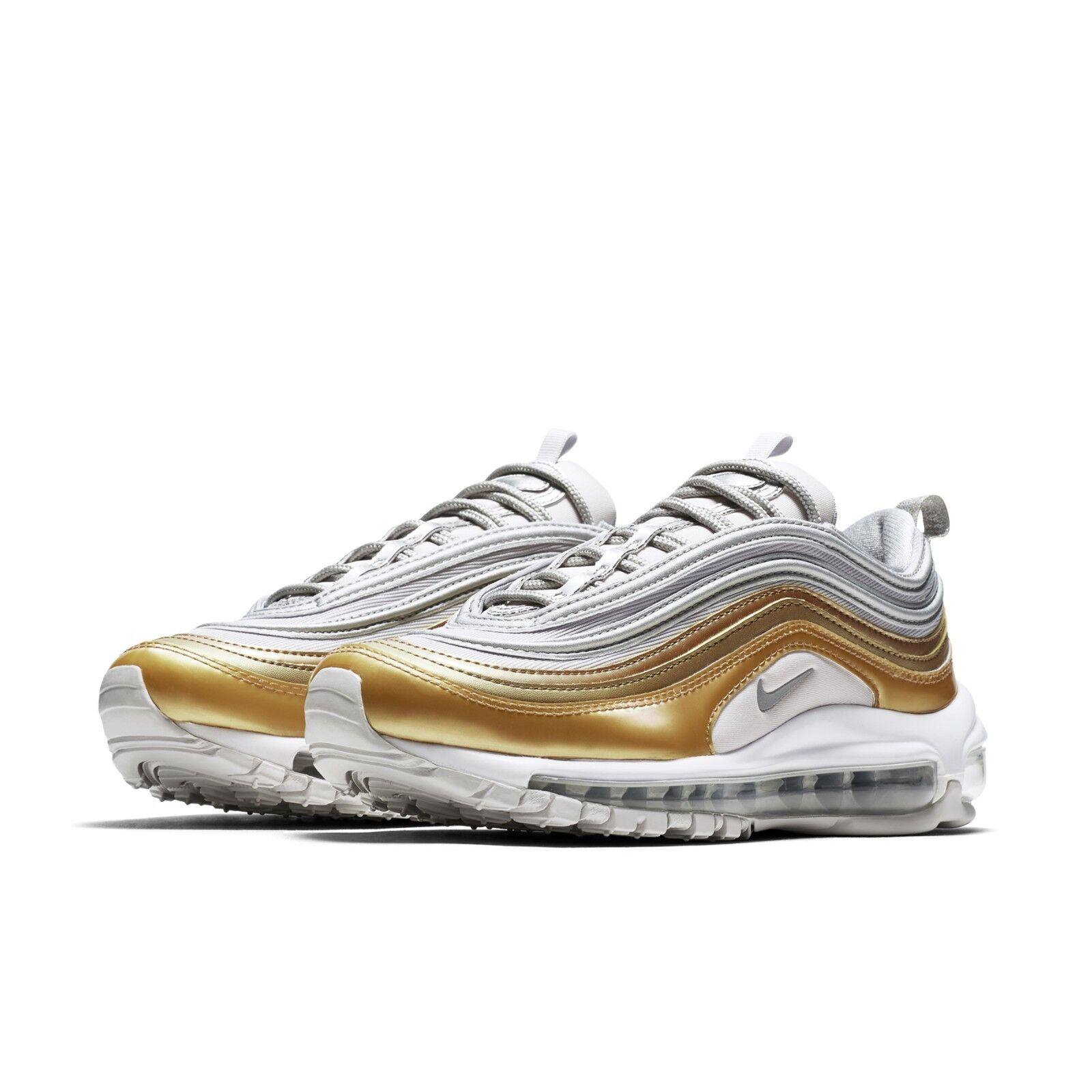 fe0df789f812a Nike Womens Wmns Air Max 97 SE Metallic Silver Vast Grey Gold Shoes  AQ4137-001