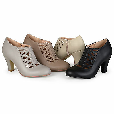 Brinley Co Womens Round Toe High Heel Matte Booties New