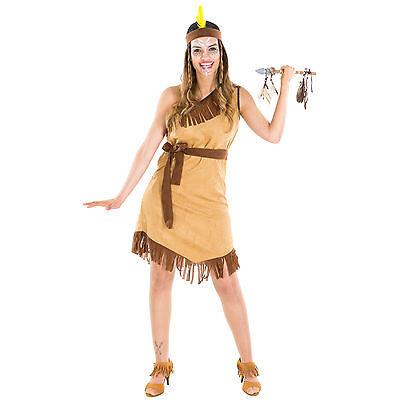 Frauenkostüm sexy Indianerin Indianer Wilder Westen Fasching Apache Squaw - Sexy Indianer Kostüm Frauen