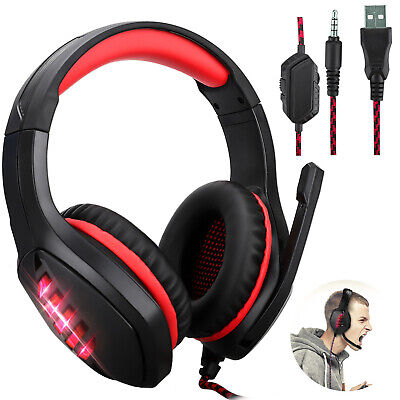 For Nintendo Switch PS4 Xbox One PC Stereo 3.5mm Wired Gaming Headset Headphones