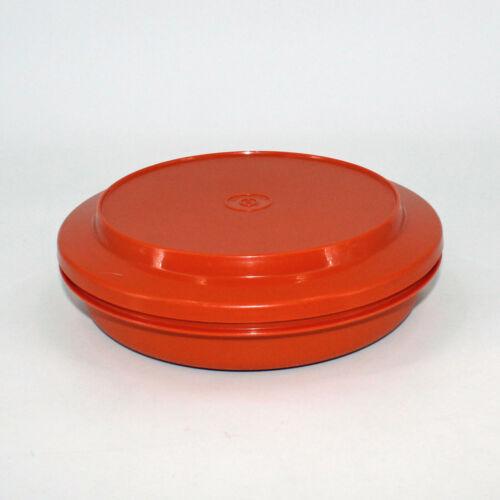 Vintage Tupperware Tortilla Keeper Seal & Serve 1336-16 1337-18 Bowl Lid Orange