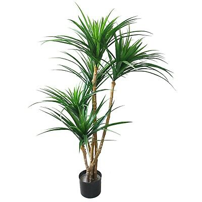51 Inch Tropical Yucana Realistic Fake Tree Indoor Outdoor Porch House Plant ()