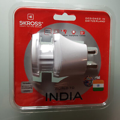 Used, Skross Mains Plug Travel Adapter World to India for sale  London