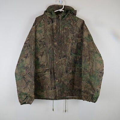 - Stearns Realtree Hardwoods Camo Hooded Polyvinyl Rain Jacket Mens Size Large