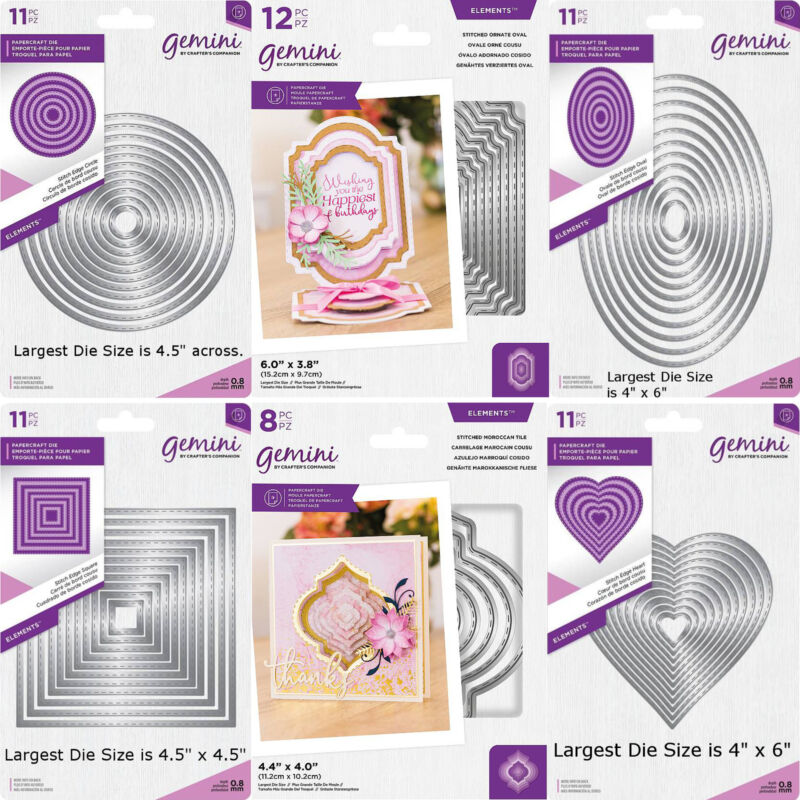 Gemini Elements Stitched Edge Nesting Dies, Your Choice - by Crafter