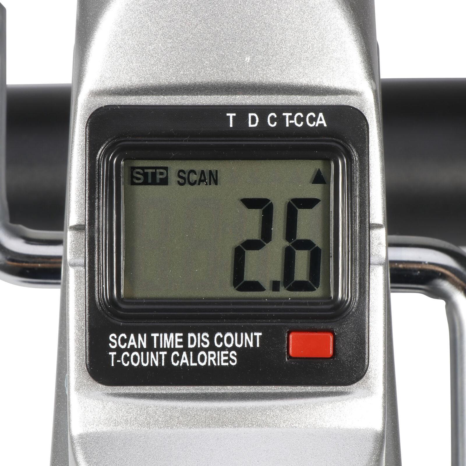 Health Fitness Bike Pedal Exerciser Under Desk Elliptical w/ 8 Levels Resistance 5