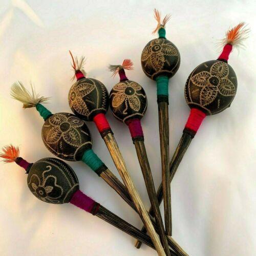 "Shipibo Bobinsana Flower Shaker | Shamanic Ceremonial Rattle | Maraca 9"""