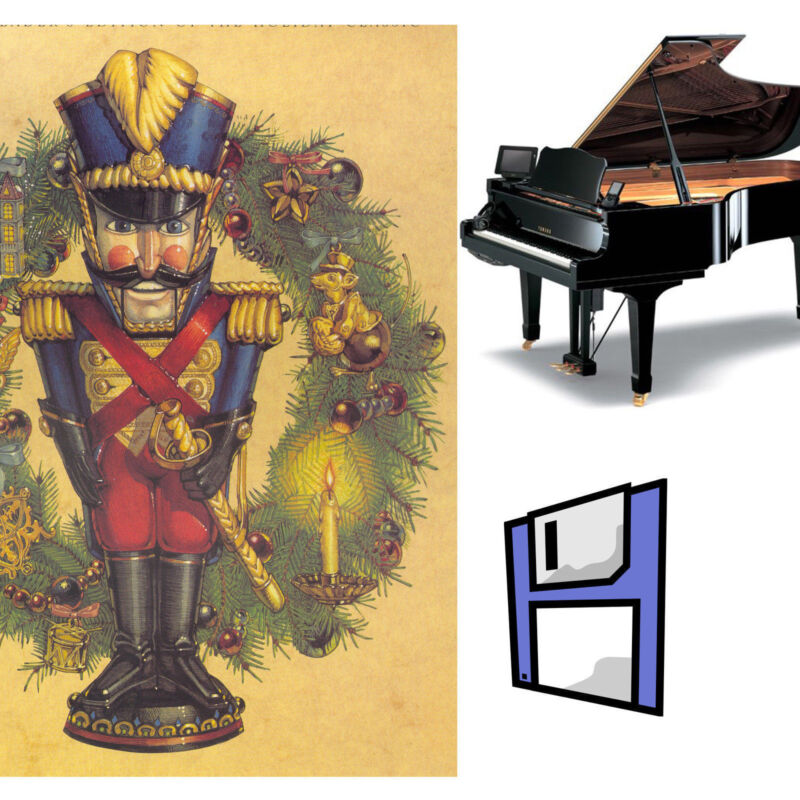 """""""The Nutcracker"""" Solo Piano Music for Pianodisc PDS128 on one 3.5"""" Floppy Disk"""