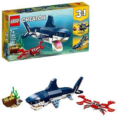 LEGO Creator 3in1 Deep Sea Creatures 31088 Building Kit (230 Piece)