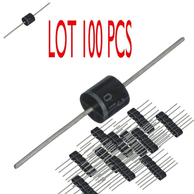 6A10 , 6 Amp 100 Volt , Silicon Rectifier Diode , Axial , Qty LOT OF 100 PCS.
