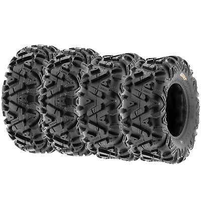 SunF 25x8-12 & 25x10-12 ATV UTV SxS All Terrain 6 Ply Tires A033 |Set of 4