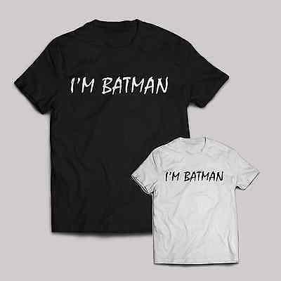 I'm Batman T shirt funny comedy marvel Halloween costume superman joker two face