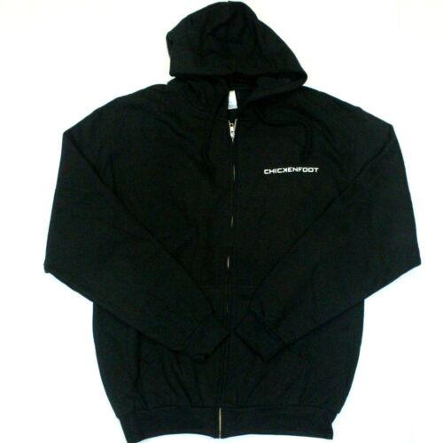 Chickenfoot 3D Logo Full Zip Sweatshirt Hoodie - Tultex - Black - 2XL