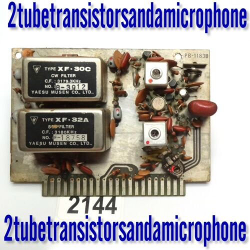 YAESU PB-1183 IF BOARD with XF-30C CW for AM FILTER for FT 101 B E EE EX F FE FX