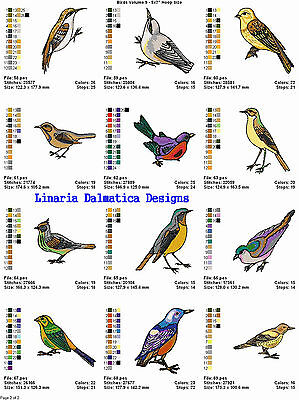 BEAUTIFUL BIRDS V.9 (5X7) LD MACHINE EMBROIDERY DESIGNS