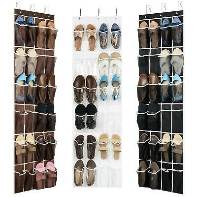 Over the Door Shoe Organizer - 24 Wide Pockets, Hanging Shoe Holder
