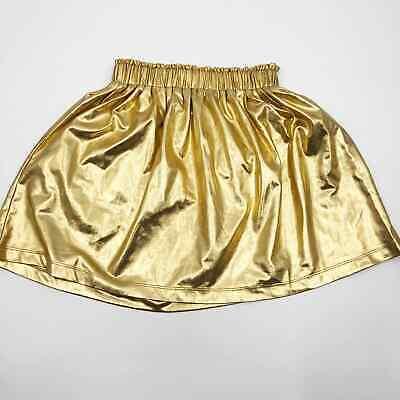 Masala Kids Gold Shiny Pull-on Skirt Size 8 Christmas Holiday elastic waist