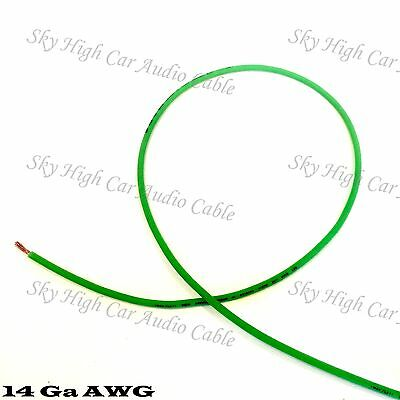 50 Ft 14 Gauge Awg Primary   Remote Wire Green Sky High Car Audio Lead Ga Feet