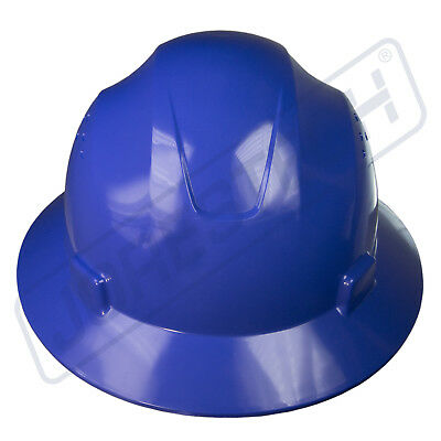 Blue Hard Hat Full Brim Jorestech 4 Point Ratchet Suspension Construction Ansi