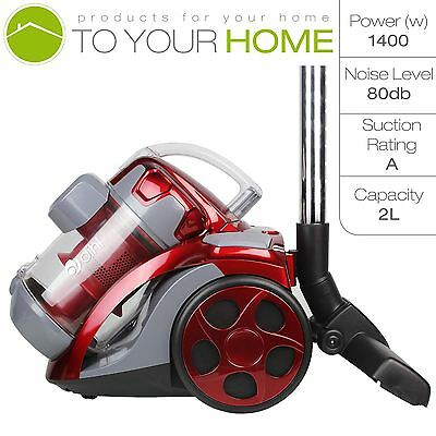 1400W Cylinder Cyclonic Bagless Powerful Compact Light Vacuum Cleaner 2.0L HEPA