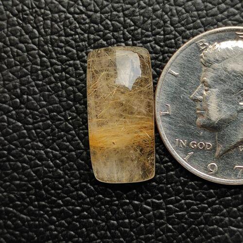 Natural Golden Rutile Quartz Cabochon Rutilated Quartz Healing Gemstone R9103