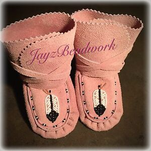 Baby moccasins n wraparounds for sale. Size 3 & 2