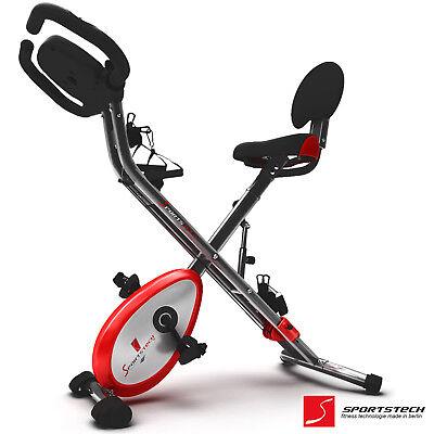 Sportstech Cyclette 4in1 App Smartphone Ergometro con elastici e sensori cardio