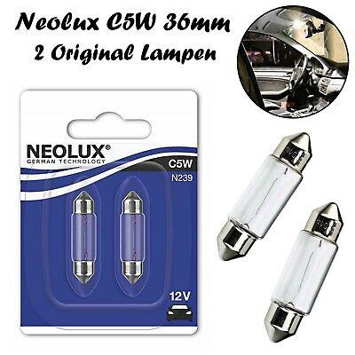 2x Neolux C5W 36mm 12V N239-02B Original Innenbeleuchtung Ersatz Soffitte Lampe