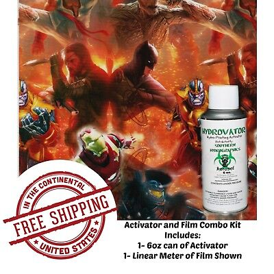 Hydrographic Water Transfer Guardians Of Universe Film 6oz Activator Dip Kit