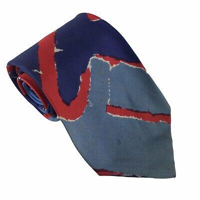 1960s – 70s Men's Ties | Skinny Ties, Slim Ties Vintage 1960s Vera Neumann For Men Red And Blue Vintage Silk Tie Retro Mod Era $14.96 AT vintagedancer.com