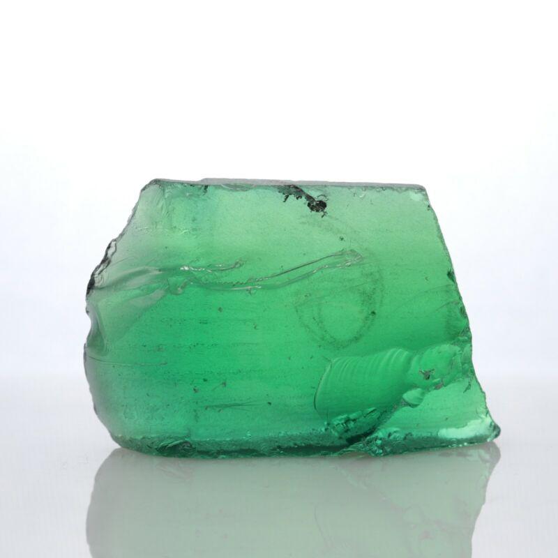 15.2gr Garnet Green Color (YAG) Lab Created Faceting Rough Stone