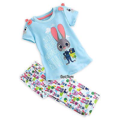 Bunny Pajamas For Kids (Zootopia Judy Hopps Bunny Rabbit Pajamas / PJ Sleep Set For Girls Disney)