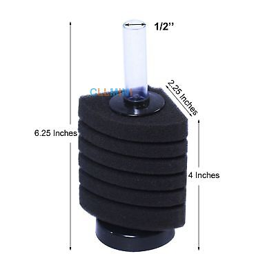 Corner Biochemical Sponge Filter Breeding Shrimp Nano Fish Tank Aquarium (Small)